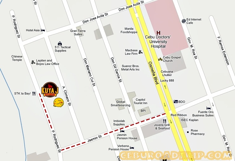 Kuya J Restaurant Cebu City Map