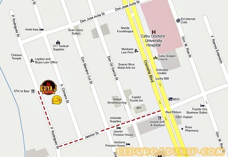 Kuya J Restaurant Cebu City Map